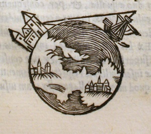 This picture is taken from the 16th century astronomy textbook, On the Sphere of the World.